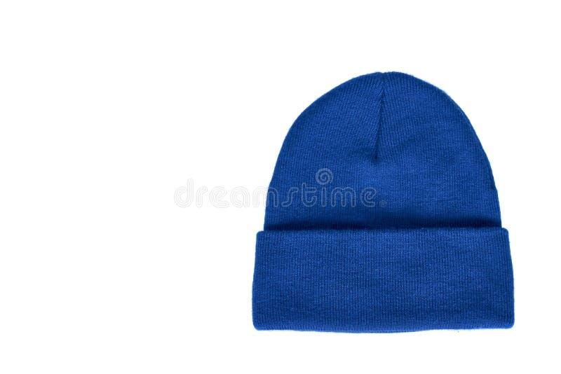 被编织的羊毛帽子,顶头辅助衣物,被隔绝 图库摄影