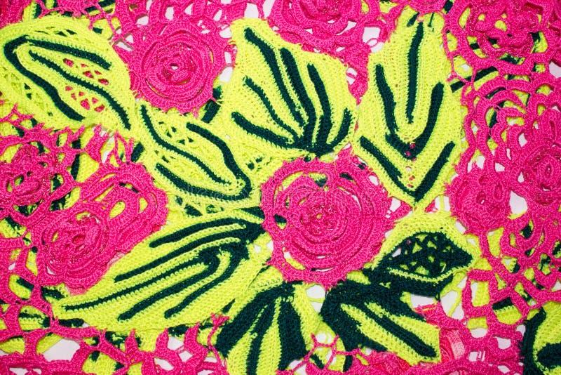 被编织的花和folias 图库摄影