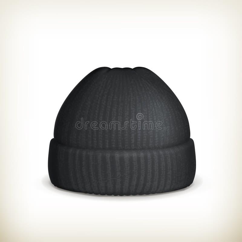 被编织的黑色盖帽 库存例证