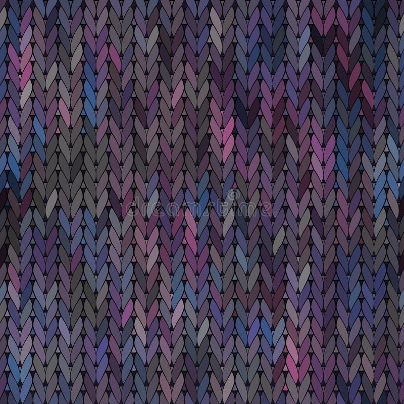 被编织的传染媒介无缝的织品样式 向量例证