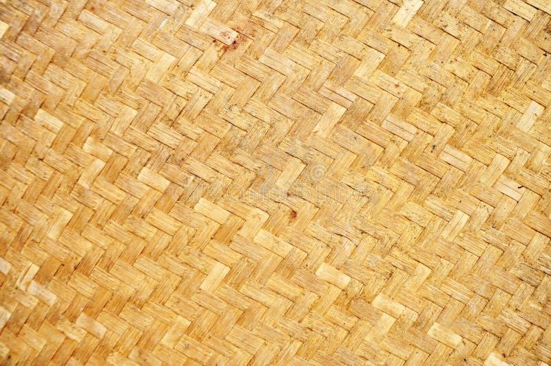被编织的竹墙壁,竹墙壁纹理和背景 免版税库存图片