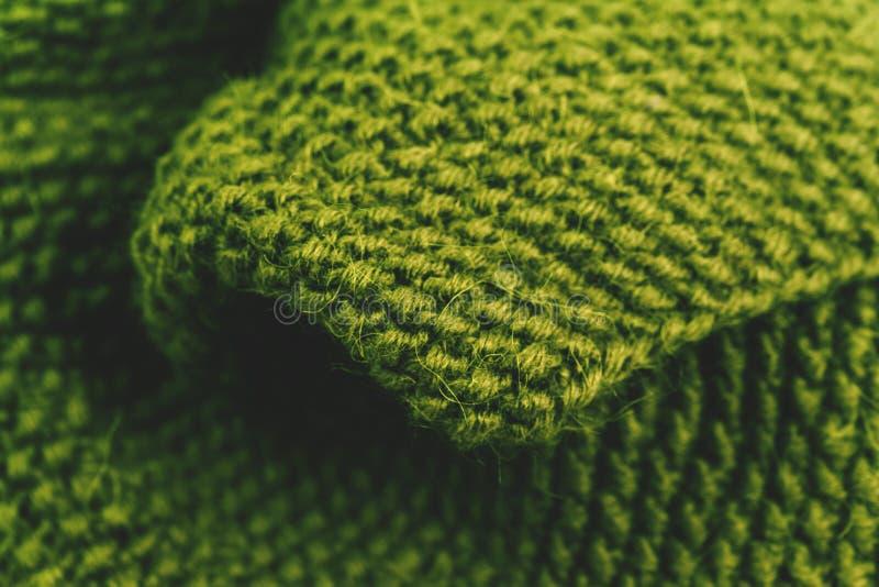 被编织的羊毛织品纹理背景关闭  图库摄影