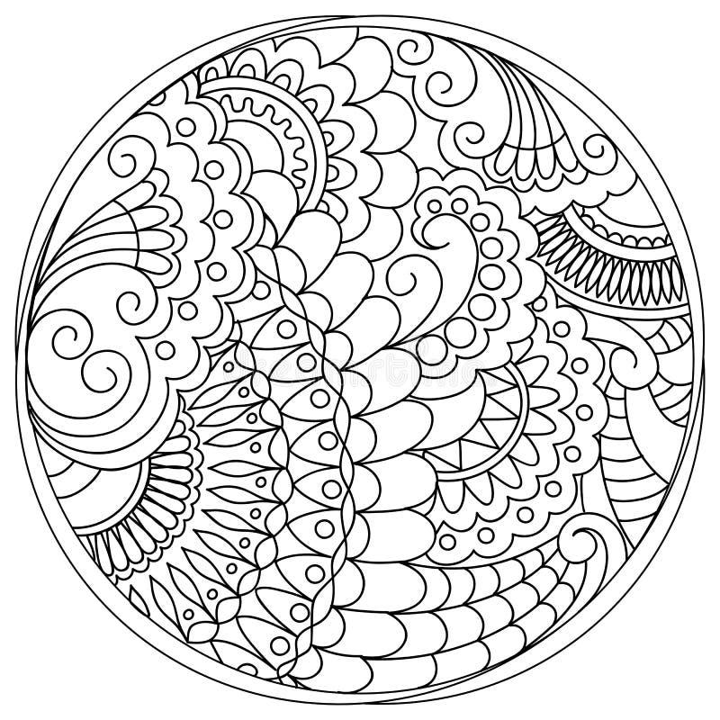 被缠结的坛场和形状在圈子 皇族释放例证