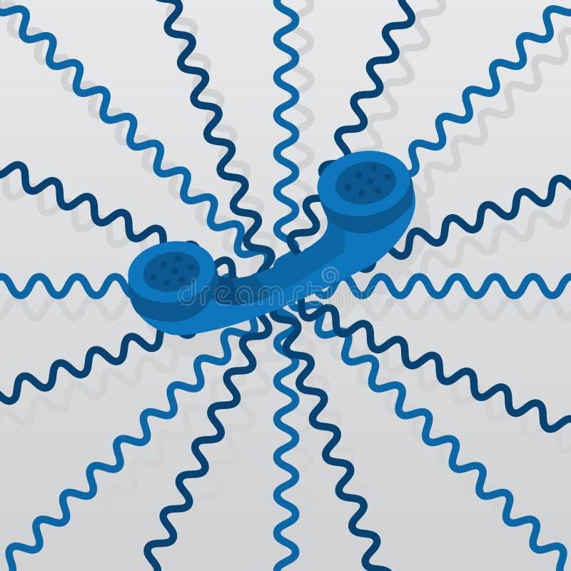 被缠结的电话线 向量例证