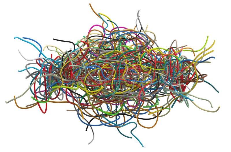 被缠结的缆绳