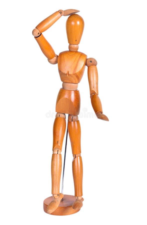 被联接的木人形象 免版税库存照片