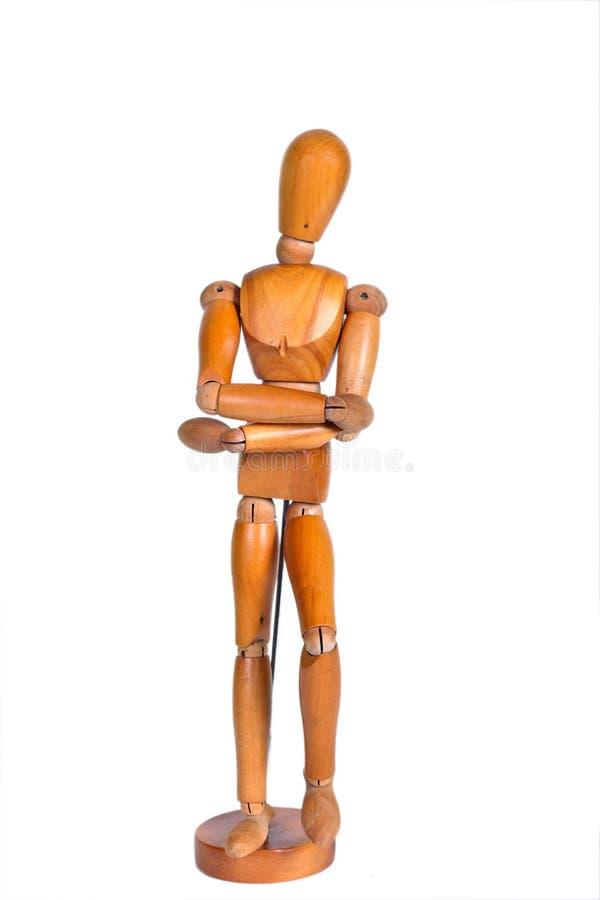 被联接的木人形象 免版税图库摄影
