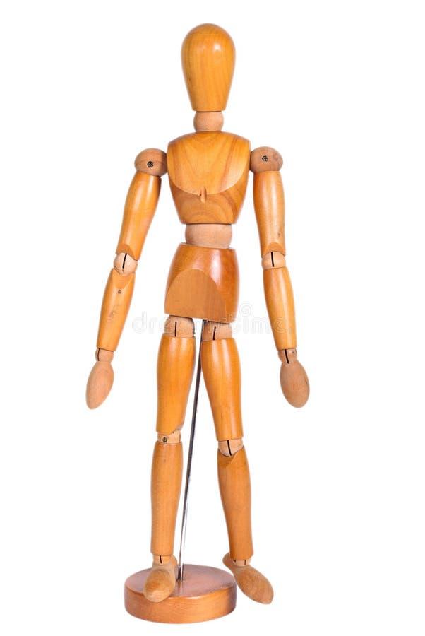 被联接的木人形象 库存图片