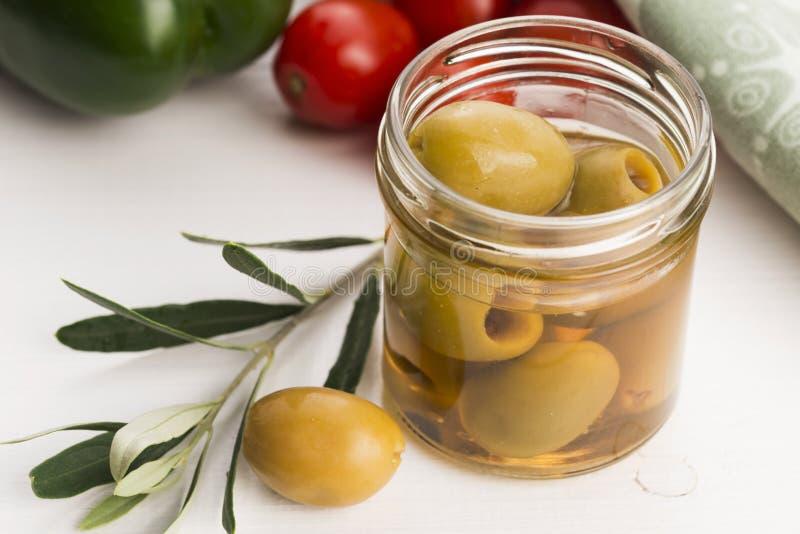 被腌制的橄榄 免版税库存照片