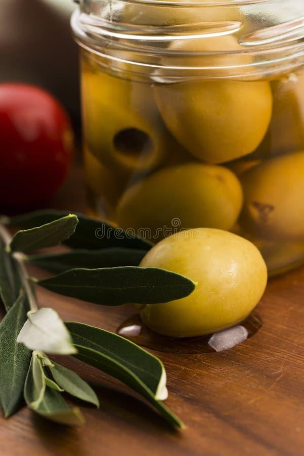 被腌制的橄榄 免版税图库摄影