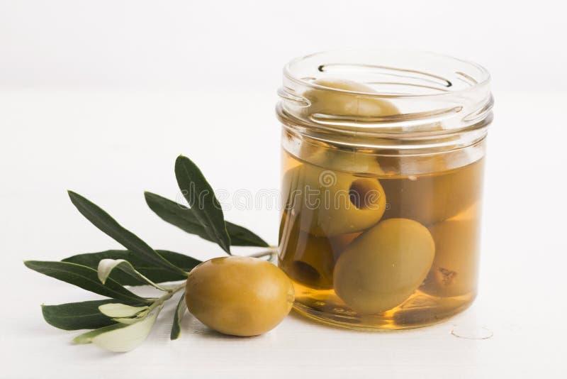 被腌制的橄榄 库存图片