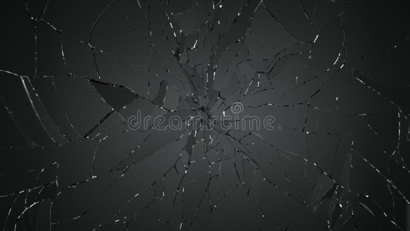被自毁的或被拆毁的玻璃 库存例证