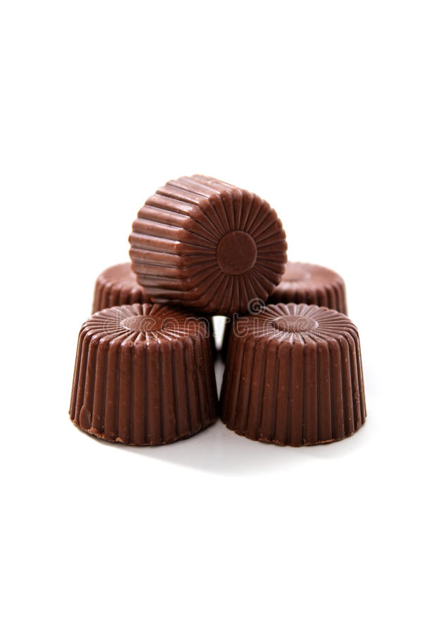 被舍入的巧克力 库存图片