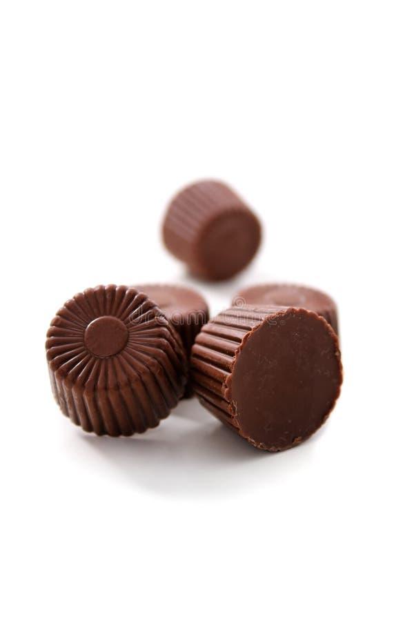 被舍入的巧克力 库存照片