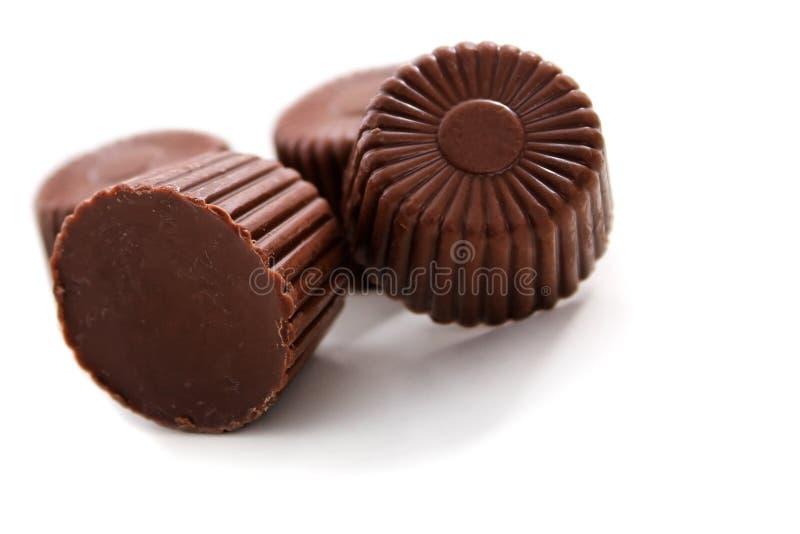 被舍入的巧克力 图库摄影