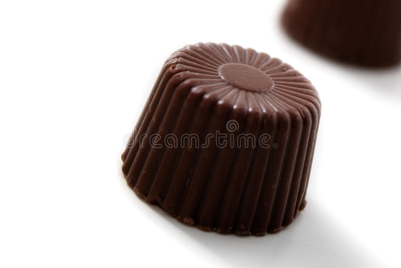 被舍入的巧克力 免版税库存照片