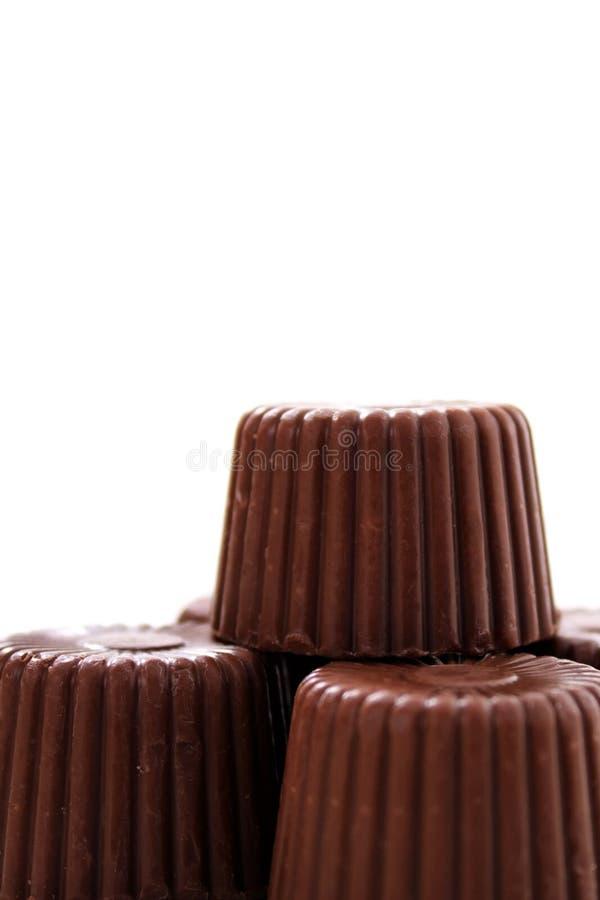 被舍入的底部巧克力 免版税库存照片