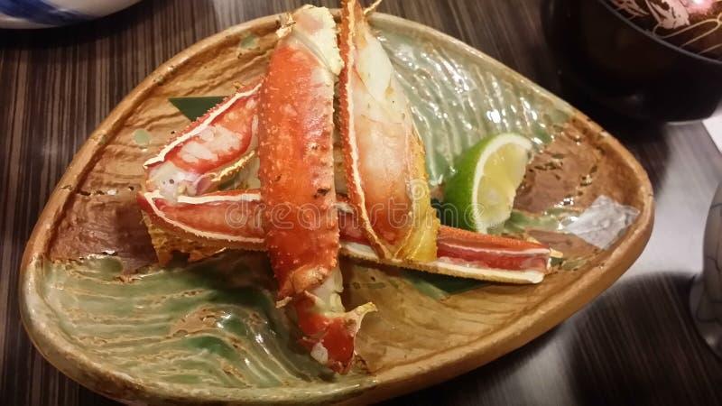 被蒸的雪螃蟹,日本 免版税库存照片