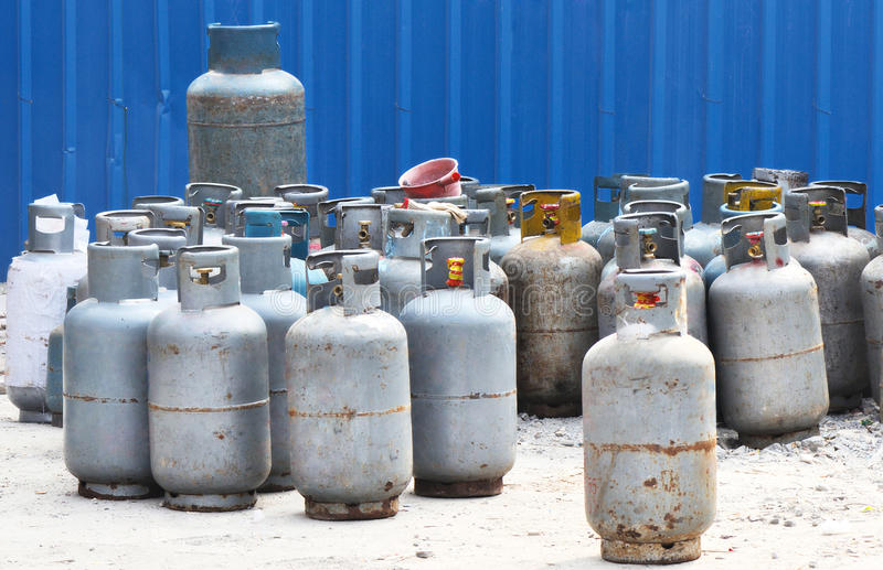 被装瓶的气体 库存照片