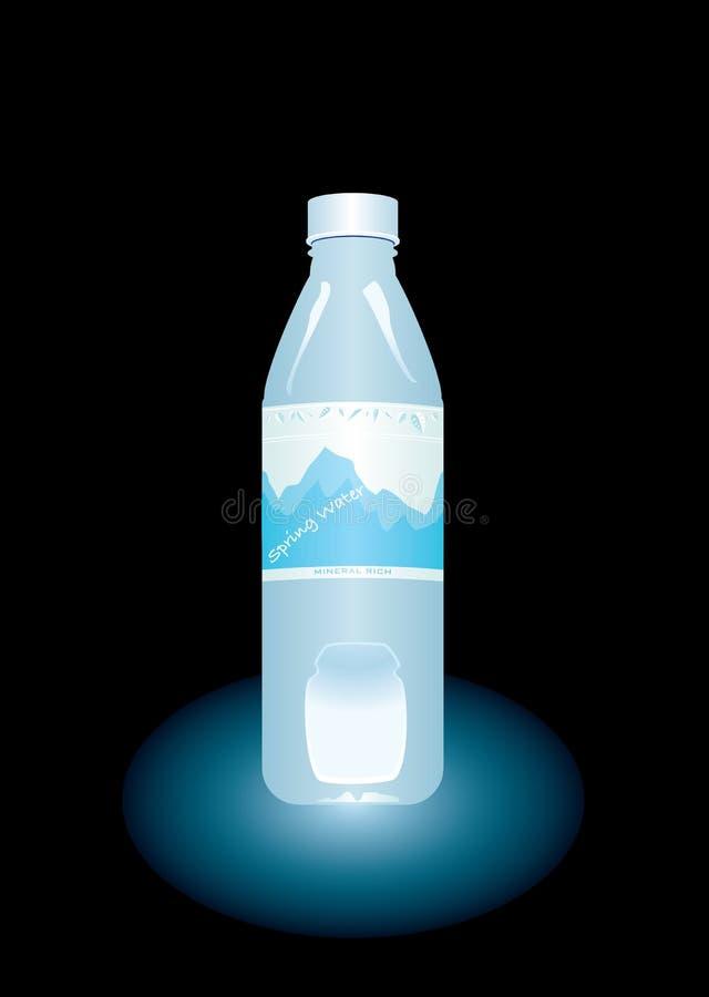 被装瓶的水 库存例证