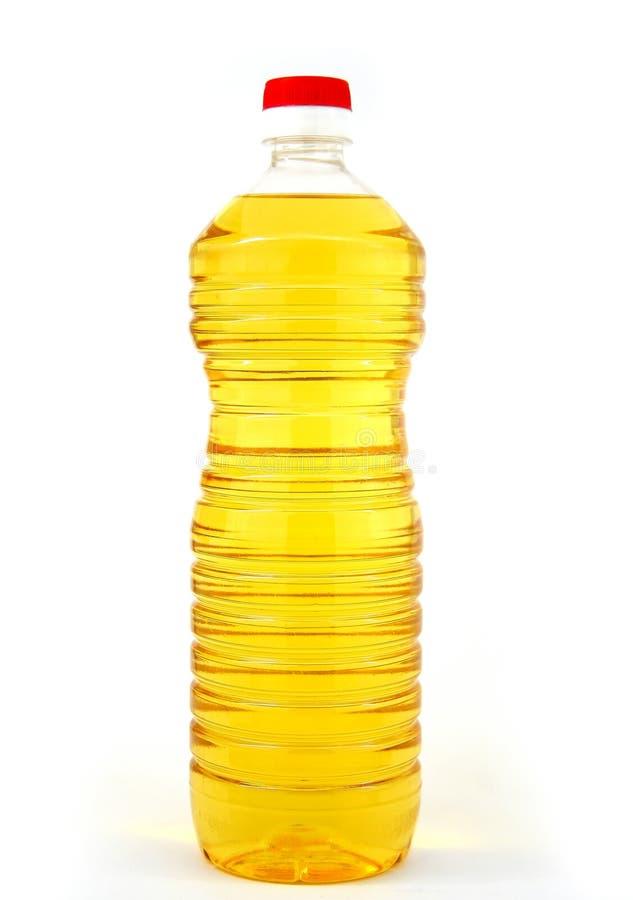 被装瓶的油 库存照片