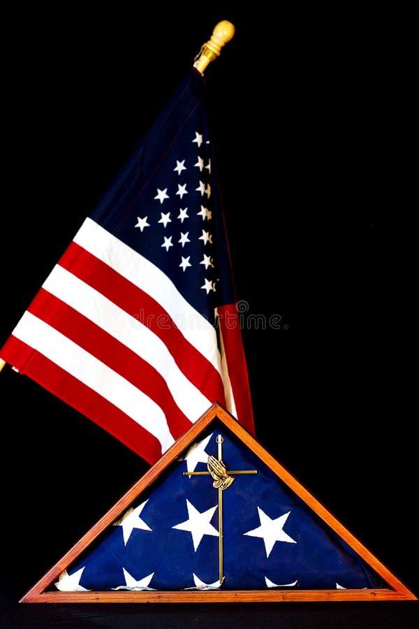 被装箱的美国国旗 图库摄影
