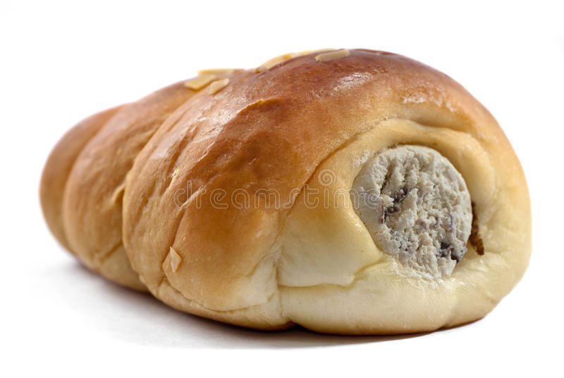 被装载的小圆面包奶油 免版税库存照片