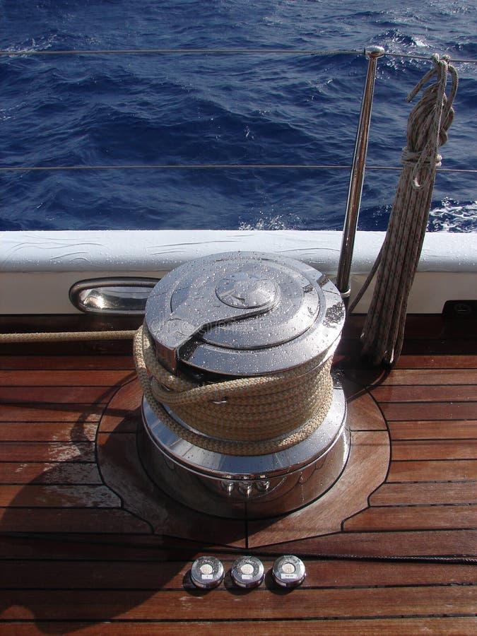 被装载的航行wndless 免版税库存图片