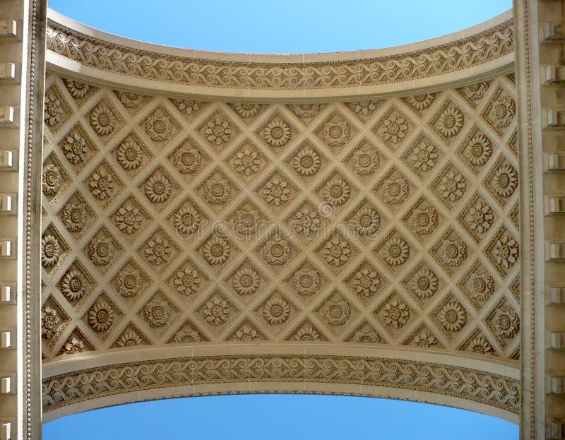 被装饰的曲拱 库存照片