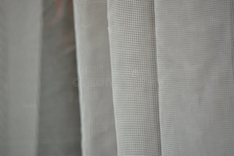 被装饰的波浪白色透明硬沙透明新娘面纱纹理 免版税库存照片