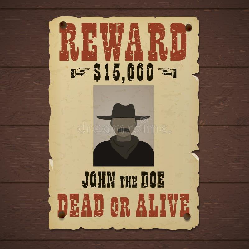 被要的死者或活横幅与人剪影在帽子和与髭 库存例证