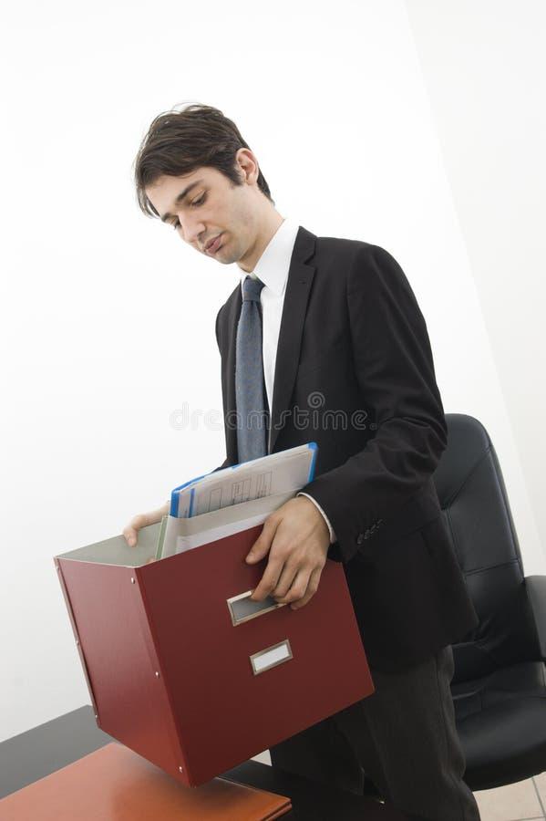 被解雇的工作者 库存图片