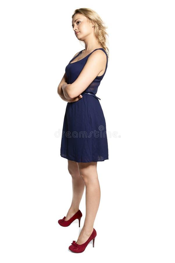 被触犯的妇女Portarit  免版税库存照片
