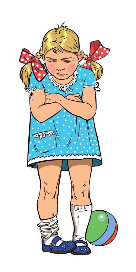 被触犯的小女孩 向量例证