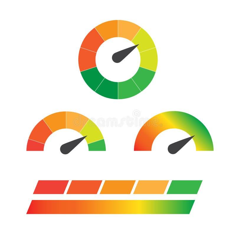 被设置的下载车速表 控制速度下载,网下载车速表,下载互联网 库存例证
