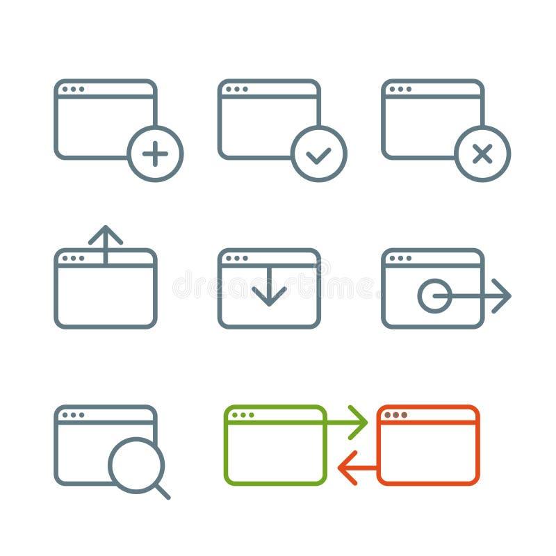 被设置的不同的浏览器象 库存例证