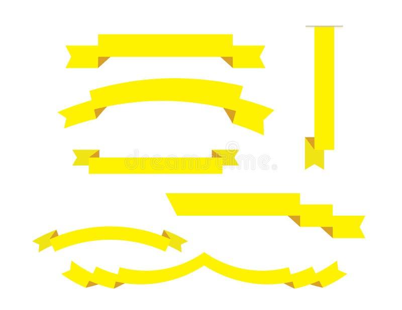 被设置的丝带 库存例证