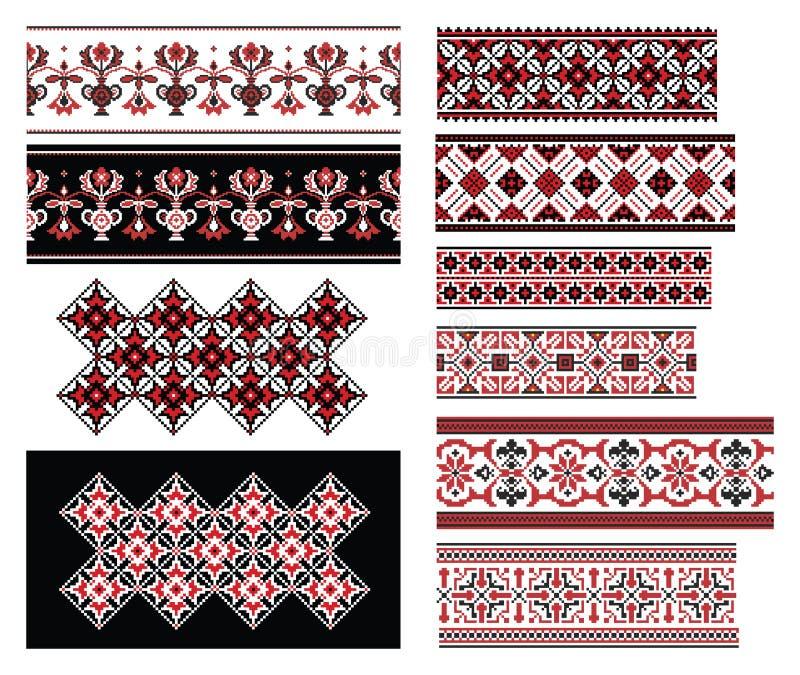 被设置的乌克兰装饰品 向量例证