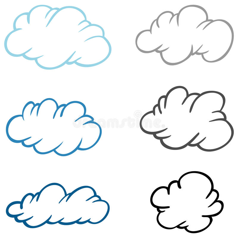被设置的云彩 向量例证