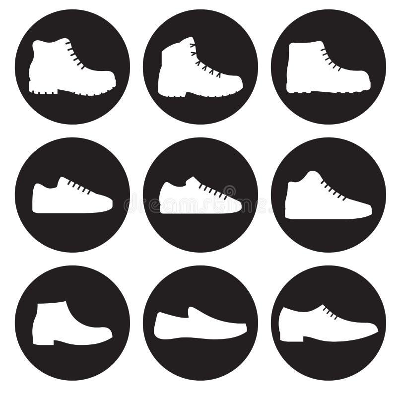 被设置的人` s鞋子被隔绝的象 皇族释放例证