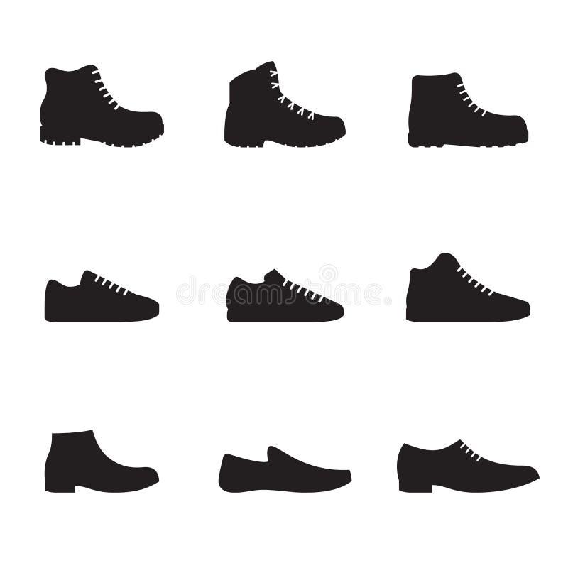 被设置的人` s鞋子被隔绝的象 向量例证