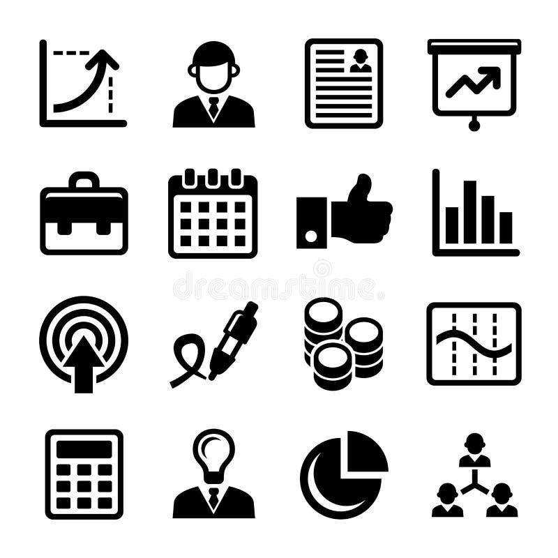 被设置的企业、管理和人力资源象 向量 向量例证