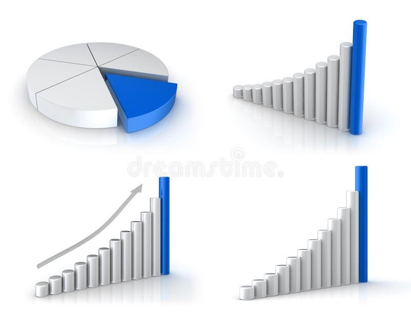 被设置的企业绘制 向量例证