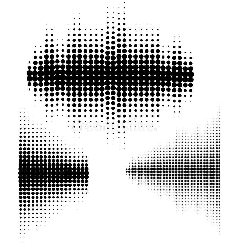 被设置的传染媒介声波 音频调平器技术,搏动音乐会 音乐样式和纹理的传染媒介例证 向量例证