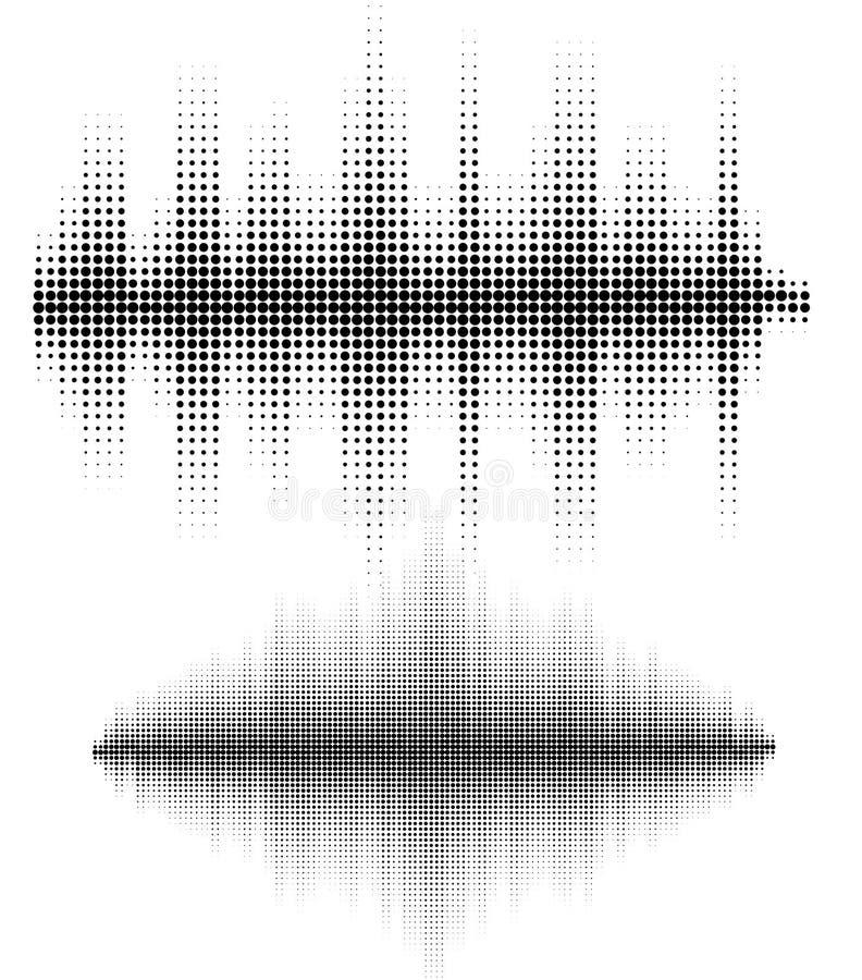 被设置的传染媒介声波 音频调平器技术,搏动音乐会 音乐样式和纹理的传染媒介例证 皇族释放例证