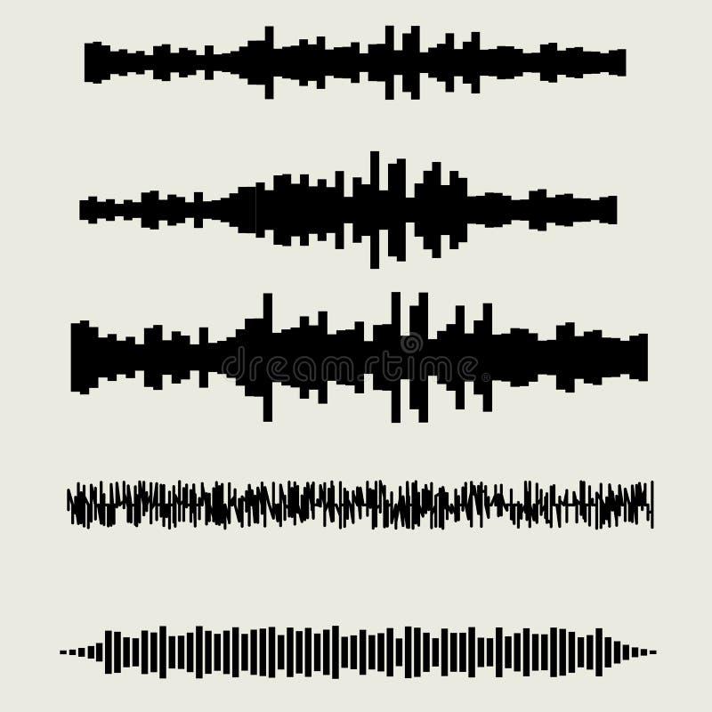 被设置的传染媒介声波 音频调平器技术 皇族释放例证