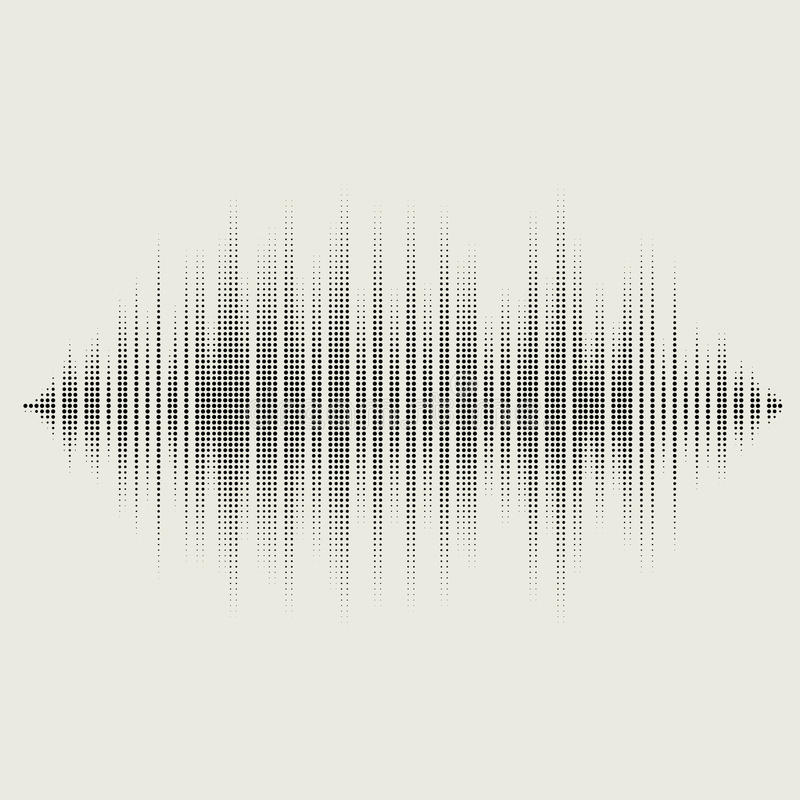 被设置的传染媒介声波 音频调平器技术 库存例证