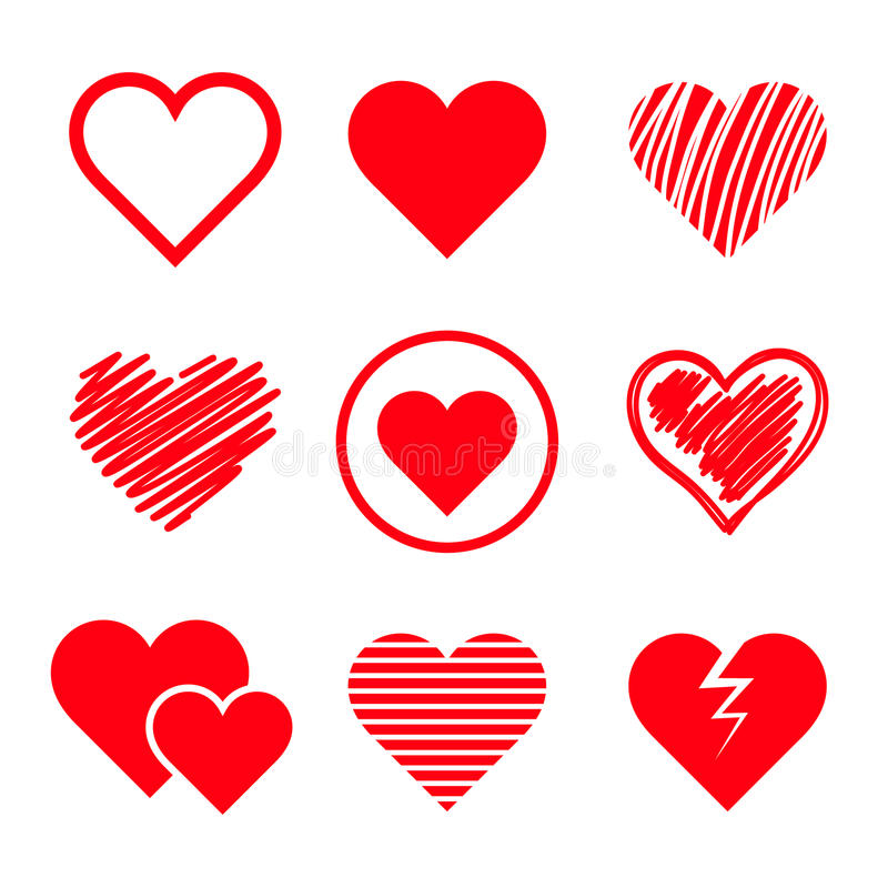 被设置的传染媒介心脏 向量例证