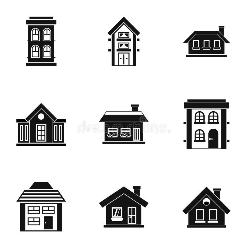 被设置的住所象,简单的样式 库存例证
