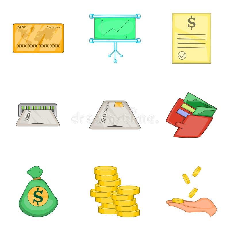 被设置的便宜的贷款象,动画片样式 向量例证